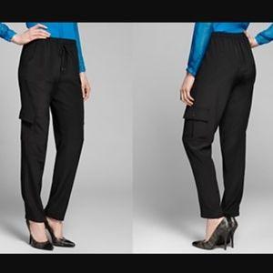 Elie Tahari silk cargo pants Medium NWT